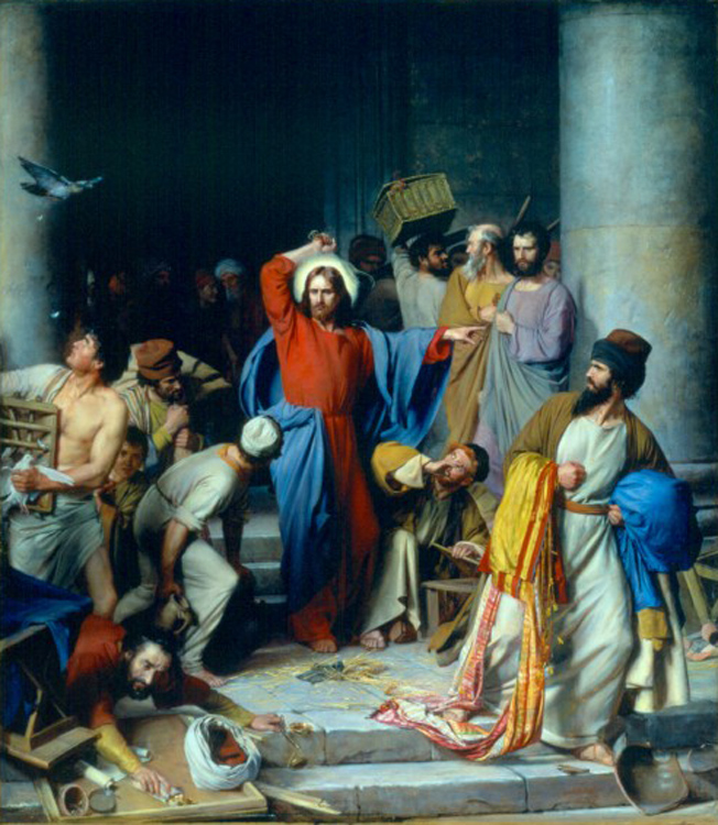 Casting out the Money Changers, Carl Heinrich Bloch