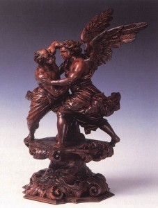 Jacob's Fight with the Angel, Andrea Brustolon, c.1710