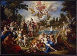 The Vision of Aeneas in the Elysian Fields, Sebastiano Conca, c.1740