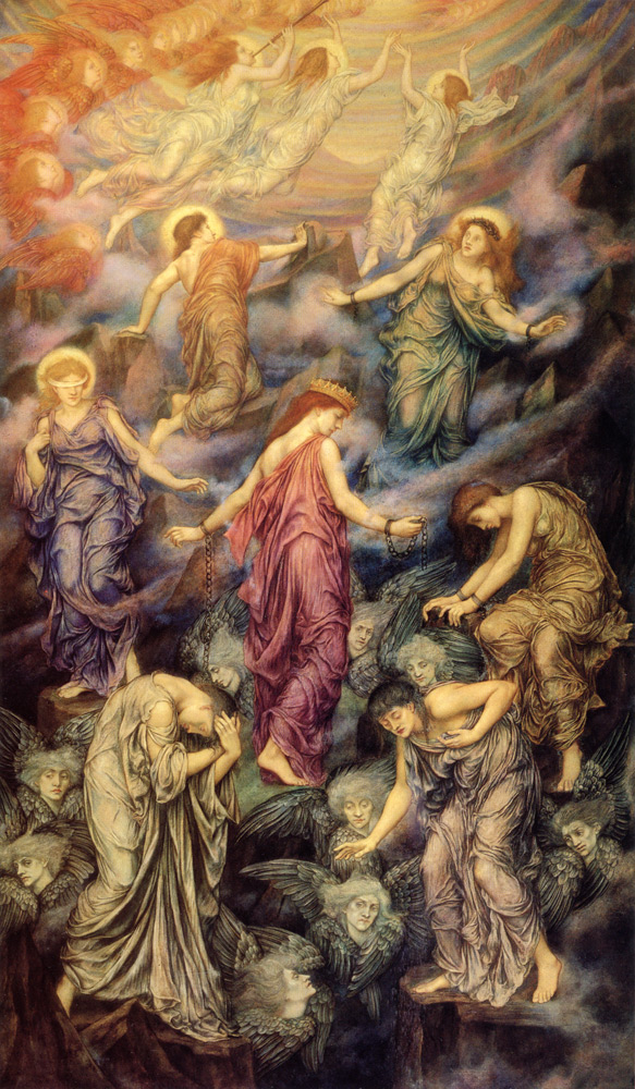 Kingdom of Heaven, Evelyn de Morgan, c. 1878.  Hint: You read it from bottom to top.