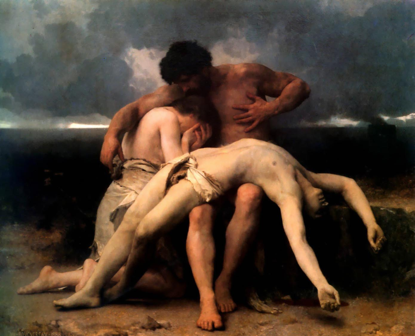 The First Mourning, William Adolphe Bouguereau, 1888