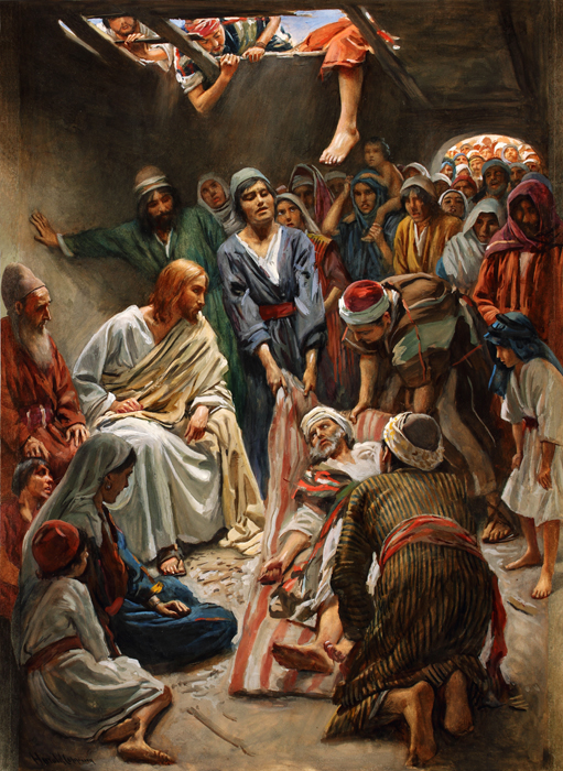 Jesus Heals the Paralytic, Harold Copping