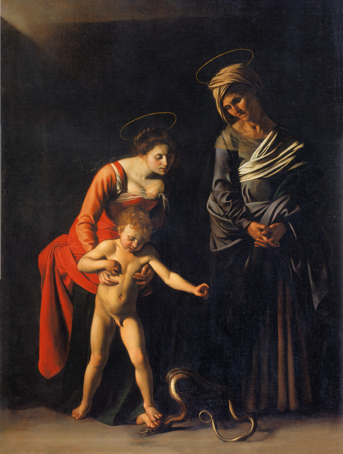 Madonna and Child with St. Anne. Caravaggio. c.1606