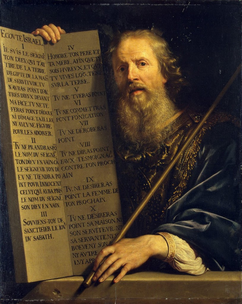 Moses with the Ten Commandments. Philippe de Champaigne. c.1648