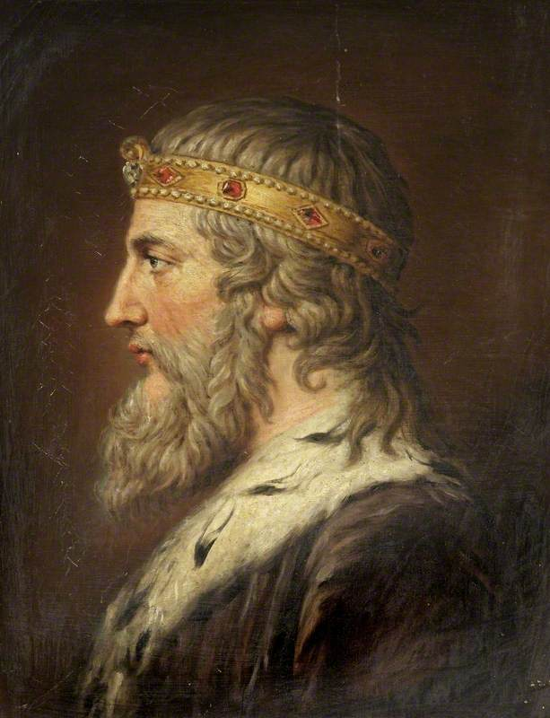 King Alfred 'The Great'. c. 1815. Samuel Woodforde