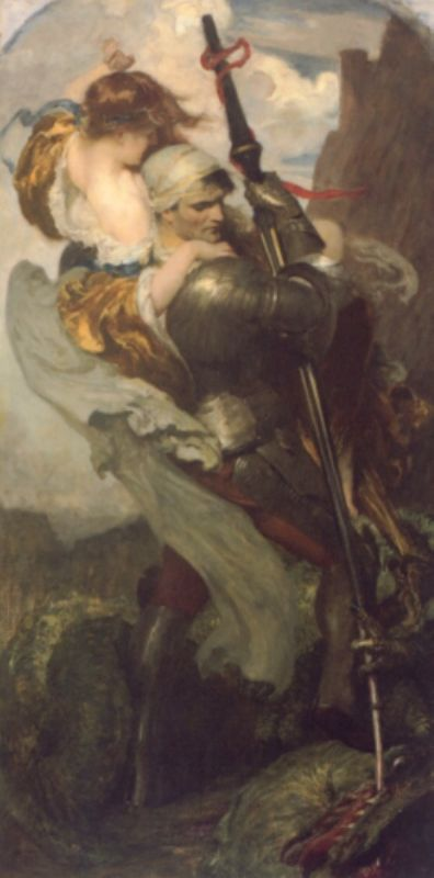 St. George and the Dragon.  Solomon Joseph Solomon.  Patron Saint of England