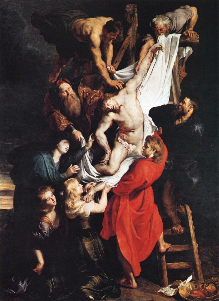 The Descent from the Cross. Peter Paul Rubens. C. 1614.