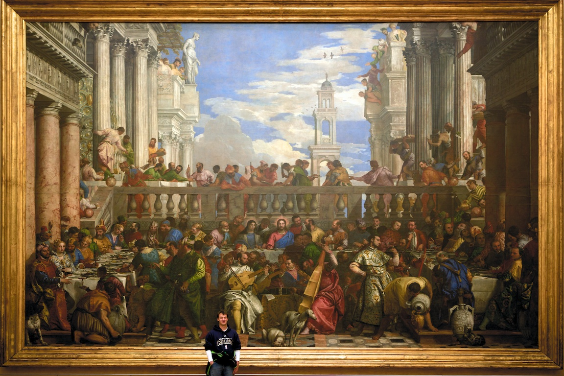 My brother getting in on the wedding feast at Cana.  Paolo Veronese, c. 1563,