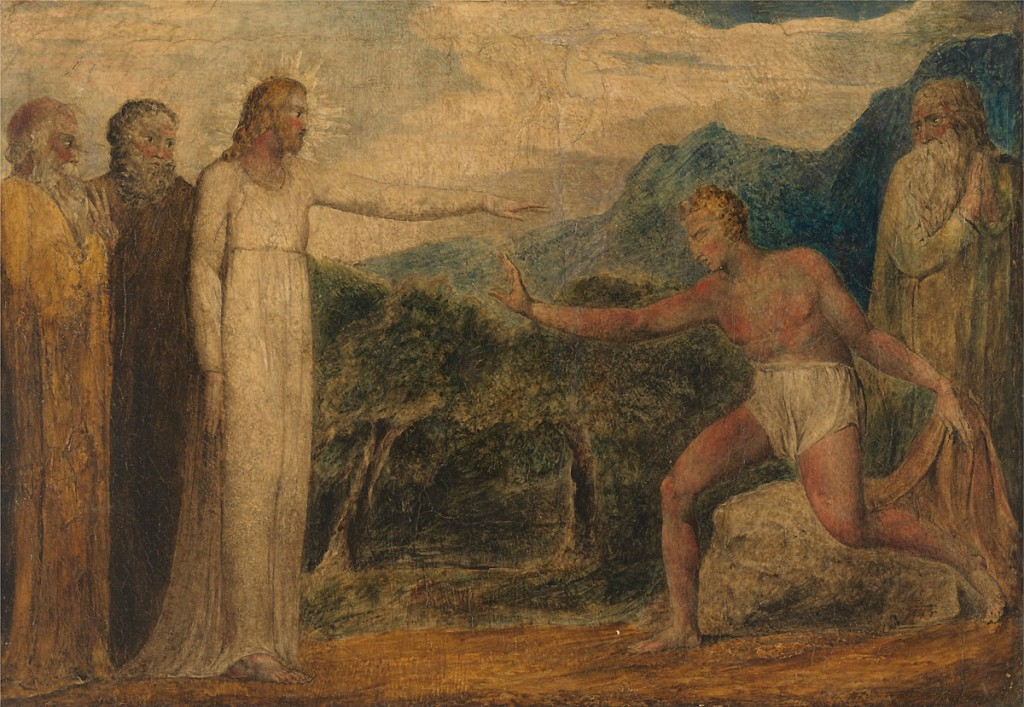Christ Giving Sight to Bartimaeus.  William Blake. 18th C.