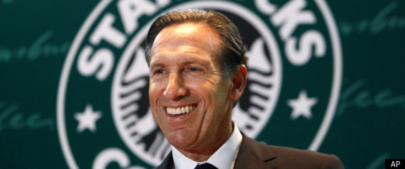 Howard Schultz, fool who happens to be in charge of Starbucks.