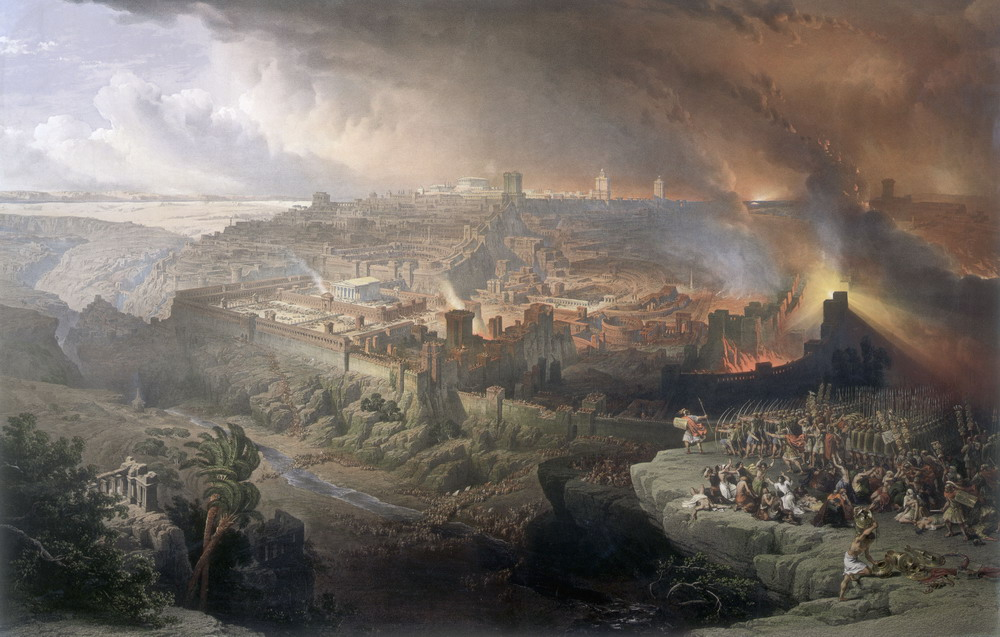 The Siege and Destruction of Jerusalem by the Romans Under the Command of Titus, A.D. 70, Oil on canvas